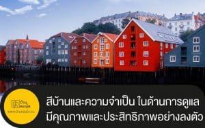 สีบ้านและความจำเป็น ในด้านการดูแลอย่างดีเยี่ยม มีคุณภาพและประสิทธิภาพอย่างลงตัว